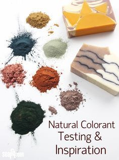 Natural Color Testing and Inspiration \\\ Click to see how 12 natural colorants behaved in cold process soap!