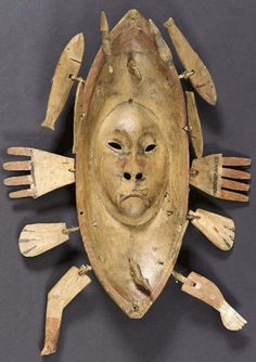 yup'ik mask sold at christies July 2003, collected by Joseph Chilberg, Yukon River, 1898