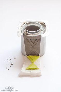 easy costume molds for concrete candleholders \\ evenyaru.com More