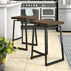 "You'll love the Platane Industrial Counter 24.25"" Bar Stool at Wayfair - Great Deals on all Furniture products with Free Shipping on most stuff, even the big stuff."