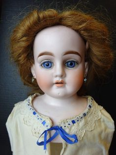 Large Antique Bisque Lady Heubach Shoulder Head Doll Head-. Lady shoulder head bisque doll head looks to have been made for the French trade due to big, full, eyebrows. She has gorgeous blue glass eyes and lovely coloring. | eBay!