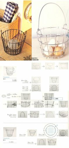 Wire Basket Tutorial. Wanting to make my own wire basket for our chicken's eggs. This will be interesting!