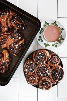 Choc Hazelnut Knots and Scrolls *cane sugar free* // Pureharvest