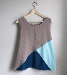 Teal & Mint Colorblock Tank Top by West Oak Design on Scoutmob Shoppe