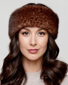3c23ba59883 Our Leopard Print Mink Fur Headband doubles as a neck warmer for women who  want two