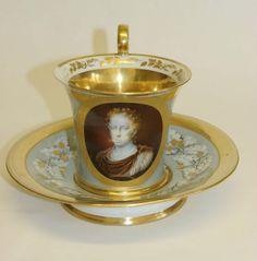 C19th Antique Royal Vienna Porcelain Cabinet Cup & Saucer Museum Quality