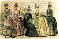 1880s Fashion Plate feat Bustle Dresses | Flickr - Photo Sharing!
