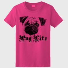 women pug life shirt , funny dog women shirt - Ladies Ultra Cotton® 100% Cotton T Shirt
