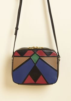 Structurally Chic Bag. Upon establishing a firm foundation for your look, it's time to accessorize - and you instinctively reach for this geometric purse! #black #modcloth
