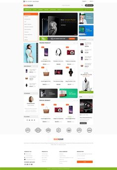 DealBazaar - Largest Marketshop Template is a good choice for selling Ecommerce Website Design, Website Design Layout, Web Layout, Layout Design, Computer Theme, Web Design, Graphic Design, Ecommerce Template, Wordpress Theme Design