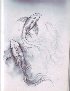 fish sketch by dennis adriano Koy Fish Drawing, Fish Pencil Drawing, Fish Drawings, Art Drawings For Kids, Amazing Drawings, Drawing Ideas, Koi Art, Fish Art, Animal Sketches