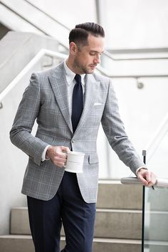 mens plaid Reiss blazer business casual outfit ideas for spring | He Spoke Style