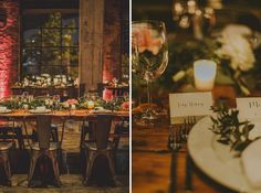 industrial reception! DUMBO, Brooklyn Wedding at Smack Mellon & Jane's Carousel. Shot by Amber Gress Photography. Planning & Design by Tinsel & Twine.