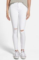 Articles of Society 'Sarah' Distressed Skinny Jeans (Whiteout) $54