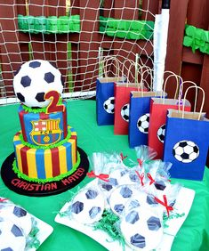 Barca / Barcelona FCB Soccer Cake and Cookies By Simply Sweet Creations (www.simplysweetonline.com)