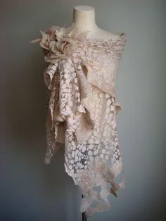 nuno felting onto lace