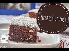 NEGRESĂ DE POST (cel mai simplu deliciu) || DULCINELE ❤ - YouTube Desserts, Food, Meal, Deserts, Essen, Hoods, Dessert, Postres, Meals