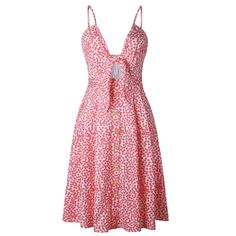 e67520f83b Clothink Womens Vintage Summer Dresses Spaghetti Strap Retro Wispy Floral  Dress S    You can