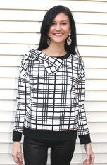 Chic Black and White Plaid Top Channel your inner Blair Waldorf! This sophisticated top with statement bow is comfortable and casual, but can also be dressed to the nines. You're sure to command some attention with this one!  White Barn Boutique