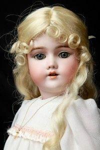 RARE 22 034 Antique German Bisque Heinrich Handwerck 99 Dep w Pieced Ear Doll 57cm | eBay