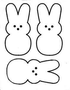 Easter Peeps Patterns By Mona Templates Bunny Template Food