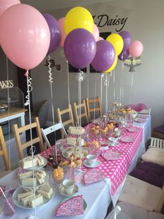 Afternoon Tea For A 10th Birthday 1st Birthday Girls 10th Birthday Afternoon Tea