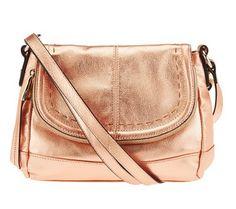 B. Makowsky Laurel Glove Leather Flap Top Crossbody Bag - A230918 — QVC.com