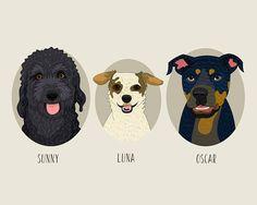 Pet portrait. Dog portrait. Personalized portrait. #art #drawing @EtsyMktgTool http://etsy.me/2y9USDc #customportrait #petportrait