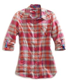 Another great find on #zulily! Hibiscus Plaid Button-Up - Women by Tin Haul #zulilyfinds