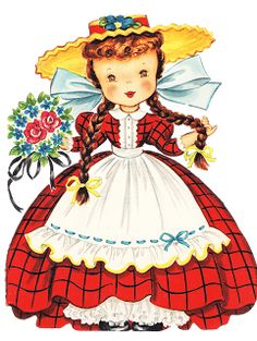 vintages gifs - Page 2 Vintage Birthday Cards, Vintage Greeting Cards, Vintage Valentines, Vintage Postcards, Decoupage Vintage, Vintage Paper Dolls, Little Doll, Cute Little Girls, Vintage Pictures