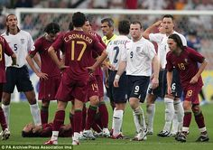 Wayne Rooney and Cristiano Ronaldo exchange words in 2006 World Cup!