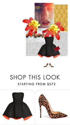 """""""wooow!"""" by lagomera ❤ liked on Polyvore featuring moda, Parlor, Christian Louboutin, Chanel, women's clothing, women's fashion, women, female, woman e misses"""