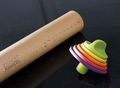 Genius rolling pin from Joseph Joseph - set it according to the thickness you want to roll your pastry/cookie dough
