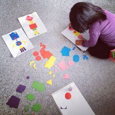 Vilda barn: Geometriska former blir robotar