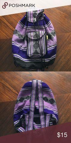 Hippie BoHo purple backpack Purple hippie boho backpack Bags Backpacks