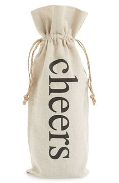Face to Face 'Cheers' Linen Wine Bag available at #Nordstrom