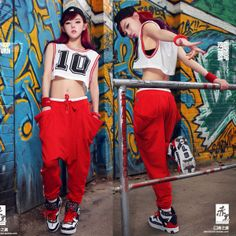 Too cool! #punk #gangsta #rap, #rapper #joggers #sweatpants #bad girl #swag #swagstyle #urban #trill