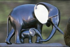 Save the elephants. Bronze Sculpture Elephant and Baby classic bronzes by artist Loet Vanderveen Indian Elephant, Elephant Love, Elephant Art, Elephant Stuff, Elephant Family, Elephant Gifts, Elephants Never Forget, Save The Elephants, Sculpture Head