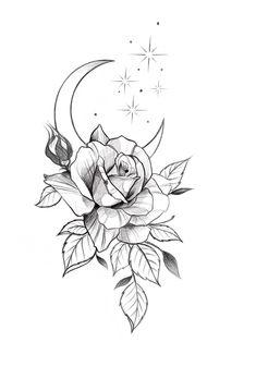 Dope Tattoos, Dream Tattoos, Skull Tattoos, Pretty Tattoos, Sleeve Tattoos, Tattos, Tatto Floral, Floral Tattoo Design, Flower Tattoo Designs