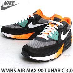 s3store-r8   Rakuten Global Market: NIKE WMNS AIR MAX 90 LUNAR C 3.0 sneakers Womens color: anthracite / white / dark grey / Atomic Orange