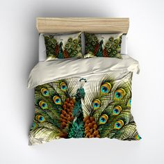 Twin Peacocks Bedding