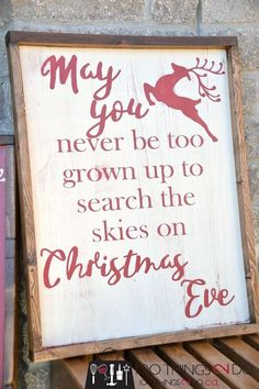 DIY Rustic Christmas Sign (and a Fall one too) - Rustic Christmas sign, farmhouse Christmas, may you never be too grown up, christmas wood sign, wood signs, distressed wood sign, Christmas sign