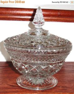 ON SALE ANCHOR Hocking Wexford Heavy Crystal Candy by GlassPalace