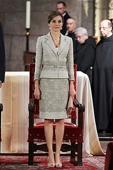 Queen Letizia of Spain attends the 'Principe de Viana 2015' award and Tribute to the Navarra Old Royals at the San Salvador de Leyre Monastery on June 10, 2015 in Navarra, Spain.