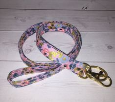 Gold Skinny floral Lanyard ID Badge Holder - Lobster clasp and key ring w Thinner Design - vintage inspired rosa Violet metallic Christmas Gifts For Coworkers, Lavender Sachets, Letter Charms, Id Badge Holders, Lanyards, Key Fobs, Hand Warmers, Lobster Clasp, Key Rings
