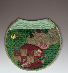 Green fish bowl quilt