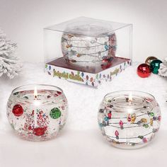 Holiday Sparkle Gel Assorted Candles are new for the holidays!
