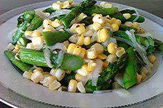 Asparagus, corn and onion side