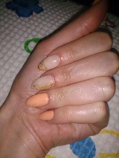 Peach nails!