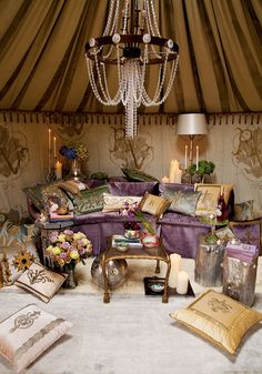 I've always thought it would be cool to own a yurt. This one is pretty girly for me; perhaps something with a golf motif?